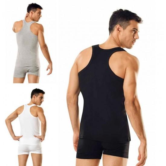 Tutku 0118 Beyaz -Siyah - Gri Erkek Sporcu Rambo Atlet