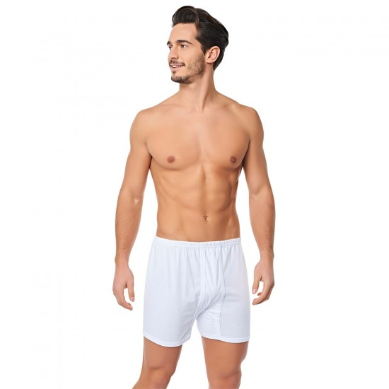 Tutku 0110 Beyaz Erkek Boxer Arjantin Paçalı- Beyaz